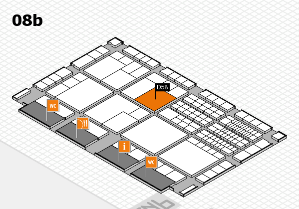 interpack 2017 hall map (Hall 8b): stand D58