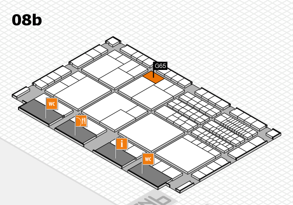 interpack 2017 hall map (Hall 8b): stand G65