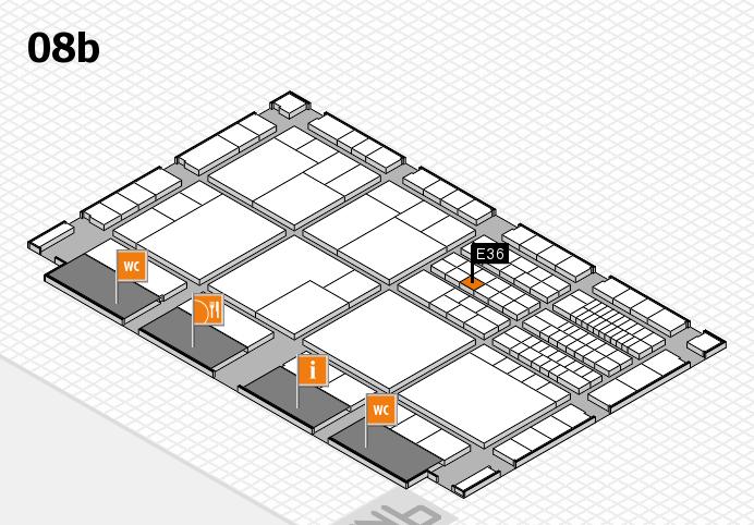 interpack 2017 Hallenplan (Halle 8b): Stand E36