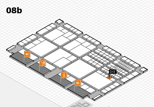 interpack 2017 Hallenplan (Halle 8b): Stand D13