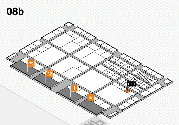 interpack 2017 hall map (Hall 8b): stand D13
