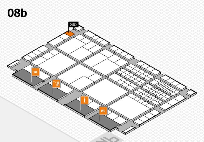 interpack 2017 Hallenplan (Halle 8b): Stand G93