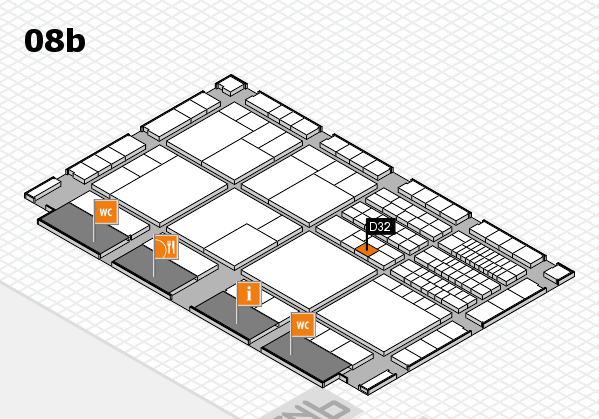 interpack 2017 hall map (Hall 8b): stand D32