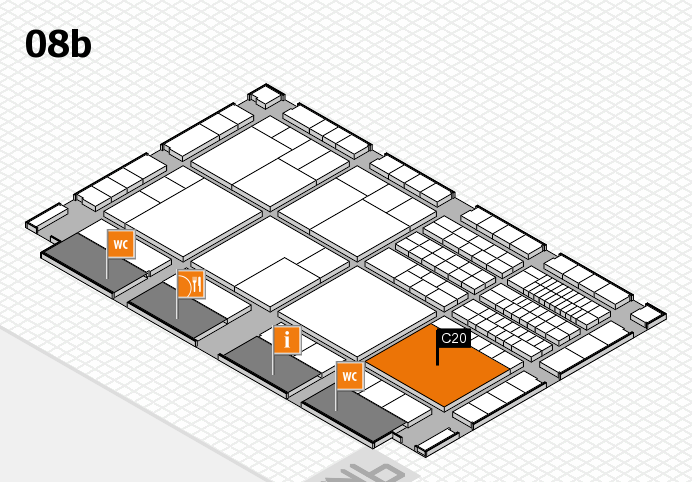 interpack 2017 hall map (Hall 8b): stand C20