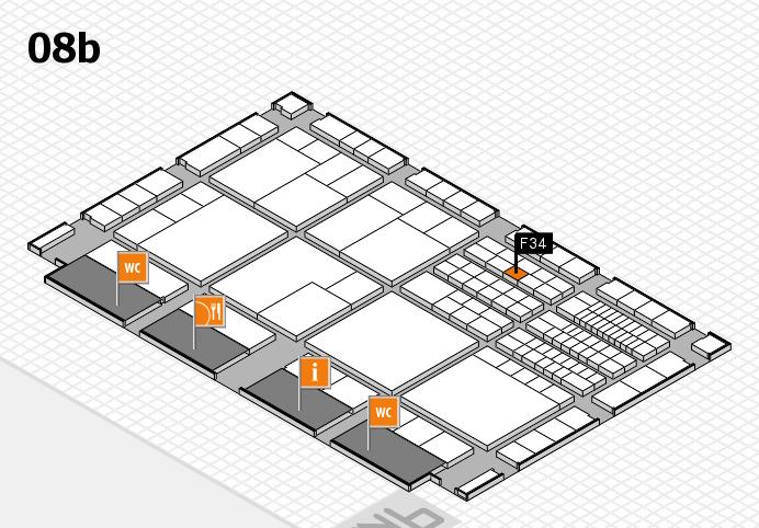interpack 2017 Hallenplan (Halle 8b): Stand F34