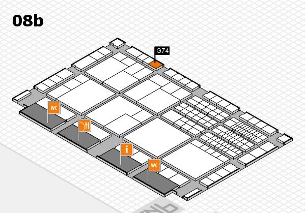 interpack 2017 Hallenplan (Halle 8b): Stand G74