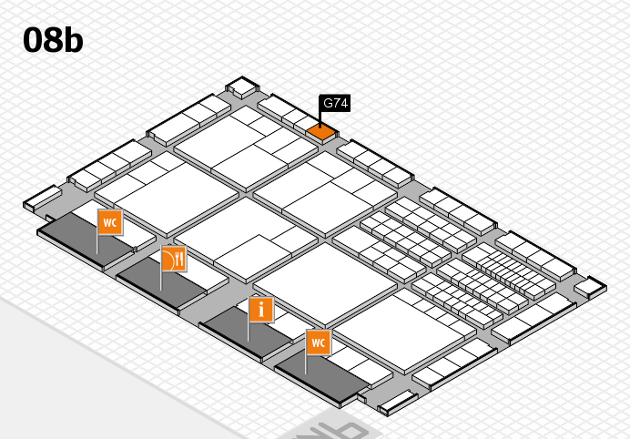 interpack 2017 hall map (Hall 8b): stand G74