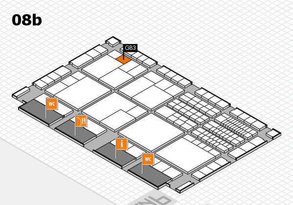 interpack 2017 Hallenplan (Halle 8b): Stand G83