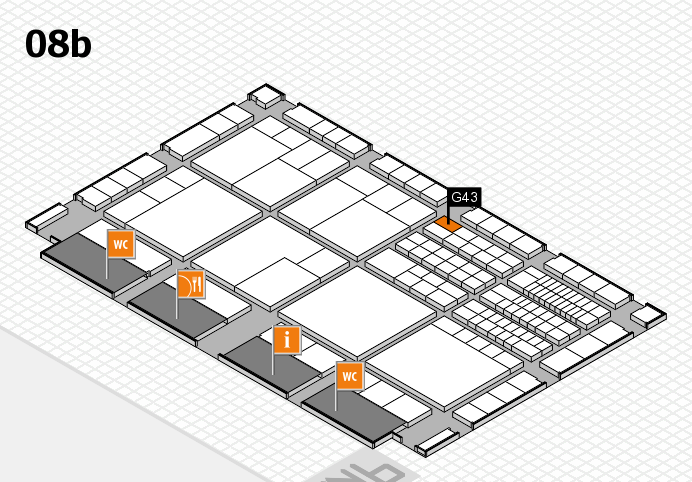 interpack 2017 hall map (Hall 8b): stand G43