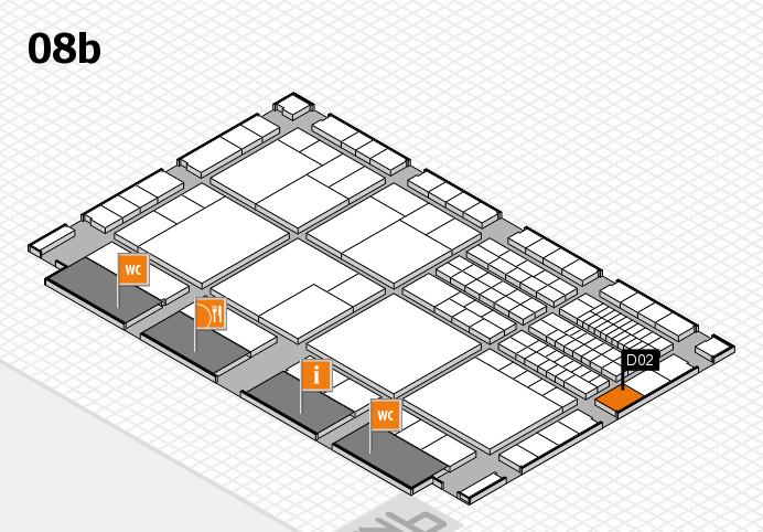 interpack 2017 Hallenplan (Halle 8b): Stand D02