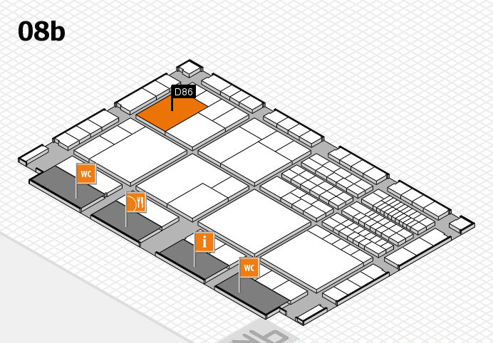 interpack 2017 hall map (Hall 8b): stand D86
