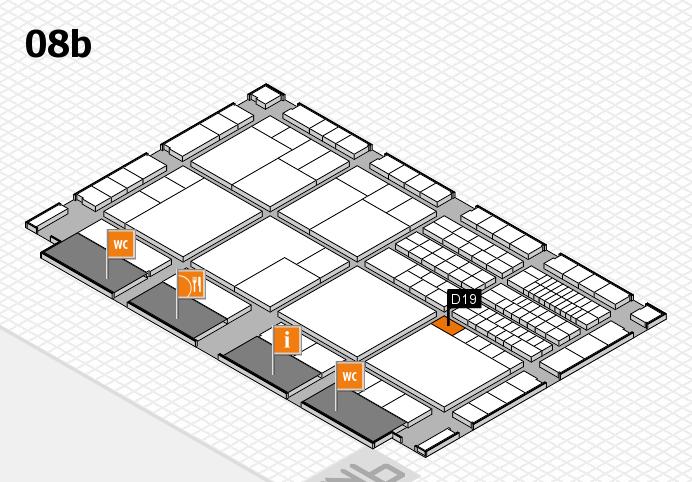 interpack 2017 Hallenplan (Halle 8b): Stand D19