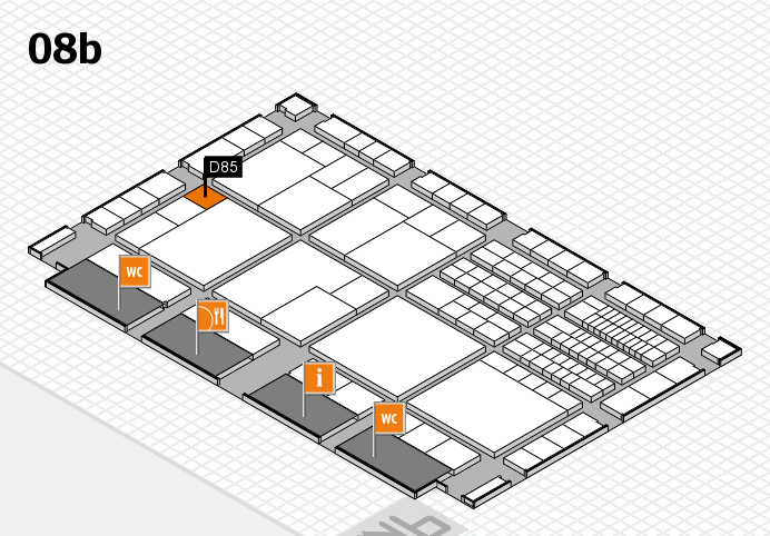 interpack 2017 hall map (Hall 8b): stand D85