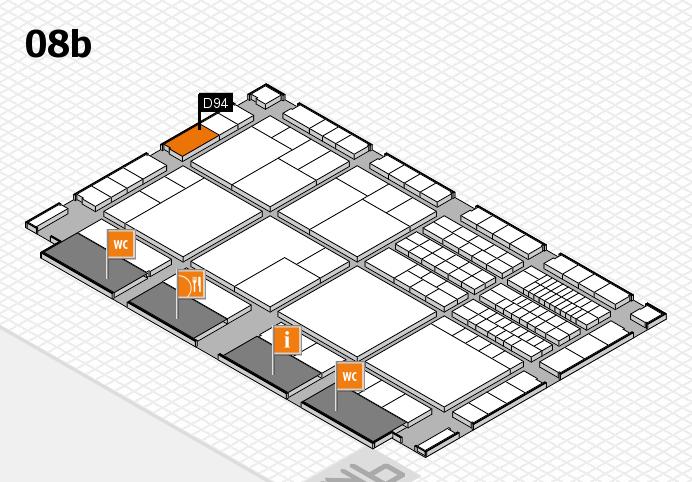 interpack 2017 Hallenplan (Halle 8b): Stand D94