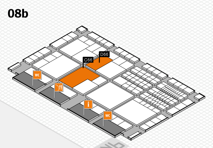 interpack 2017 hall map (Hall 8b): stand C66, stand D66