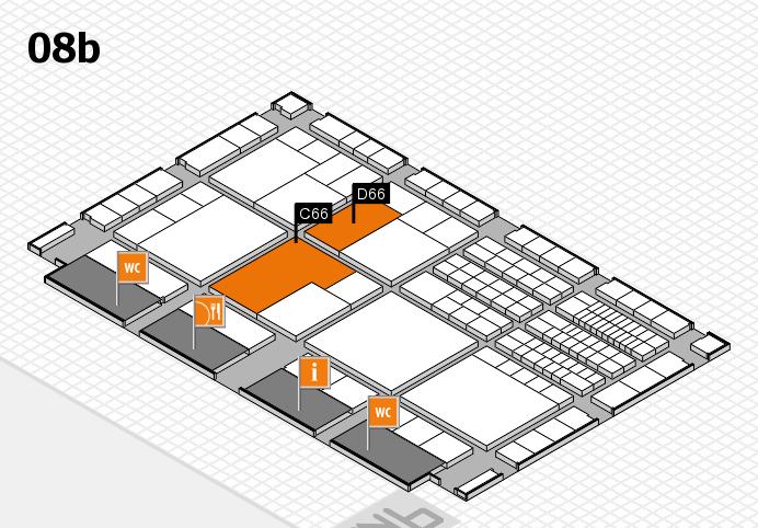interpack 2017 Hallenplan (Halle 8b): Stand C66, Stand D66