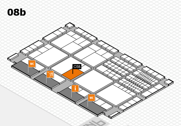 interpack 2017 hall map (Hall 8b): stand C58