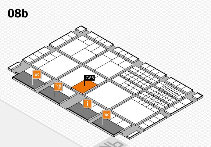 interpack 2017 Hallenplan (Halle 8b): Stand C58