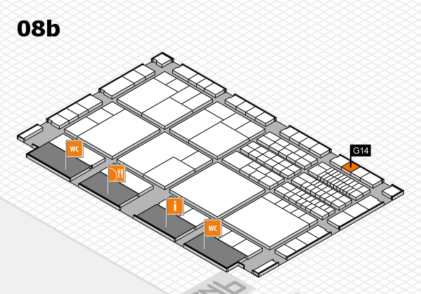 interpack 2017 hall map (Hall 8b): stand G14