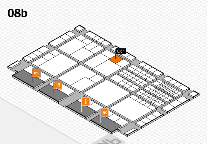 interpack 2017 hall map (Hall 8b): stand G61