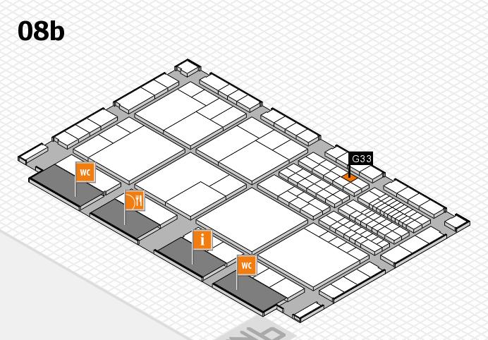 interpack 2017 Hallenplan (Halle 8b): Stand G33