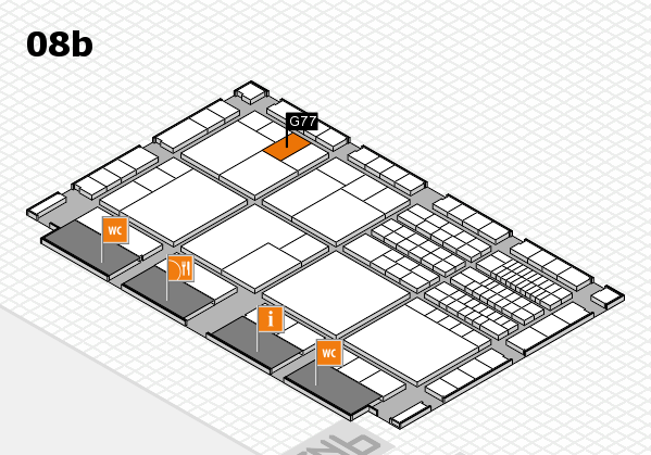 interpack 2017 hall map (Hall 8b): stand G77