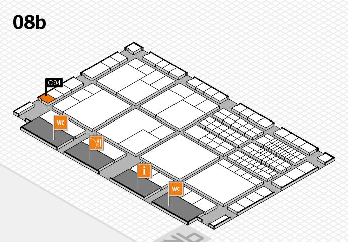 interpack 2017 Hallenplan (Halle 8b): Stand C94