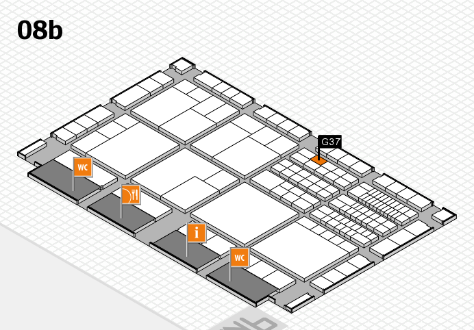 interpack 2017 hall map (Hall 8b): stand G37