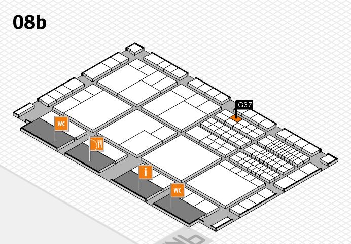 interpack 2017 Hallenplan (Halle 8b): Stand G37
