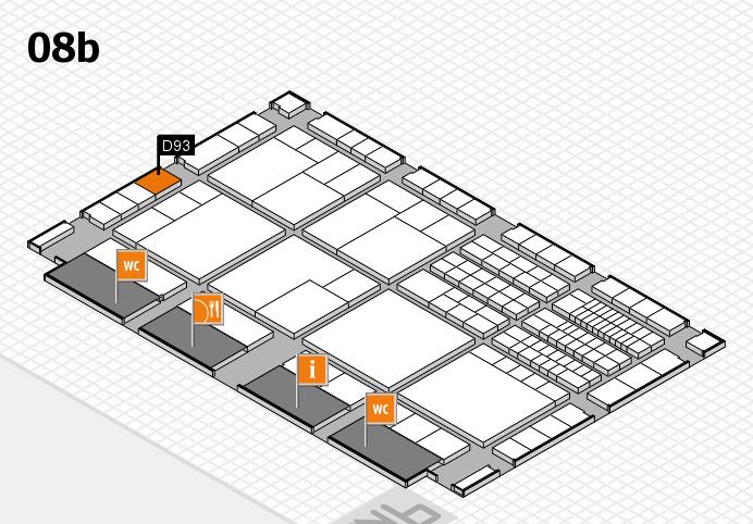 interpack 2017 Hallenplan (Halle 8b): Stand D93