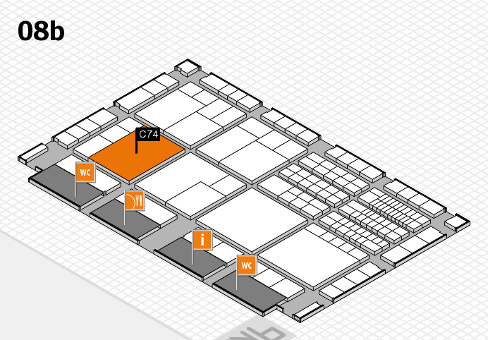 interpack 2017 hall map (Hall 8b): stand C74