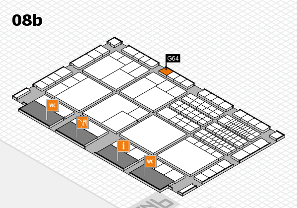 interpack 2017 hall map (Hall 8b): stand G64