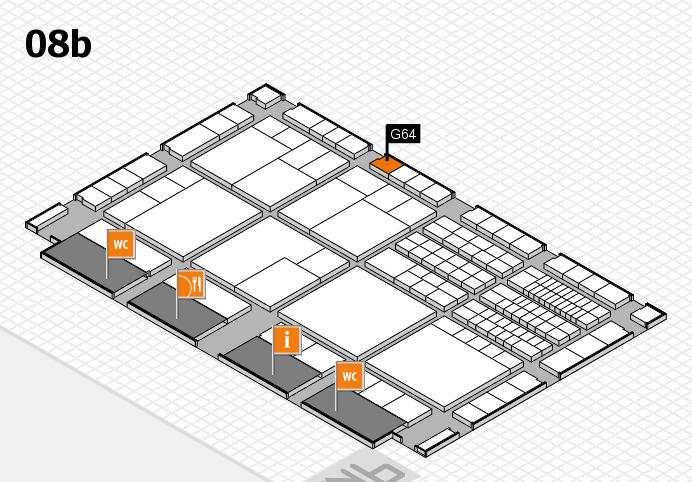 interpack 2017 Hallenplan (Halle 8b): Stand G64