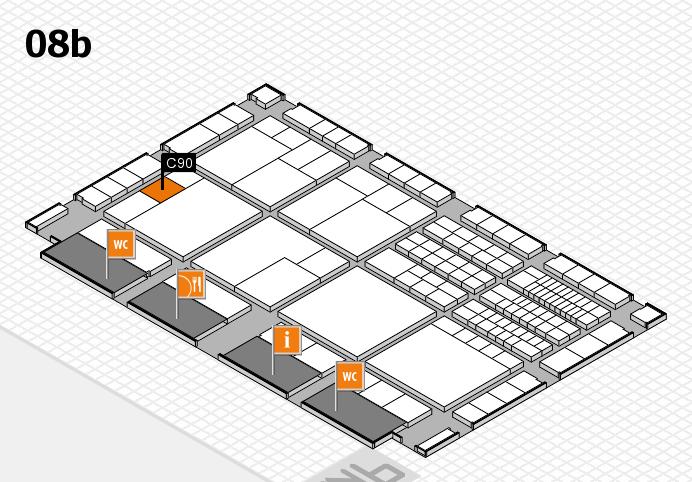 interpack 2017 Hallenplan (Halle 8b): Stand C90
