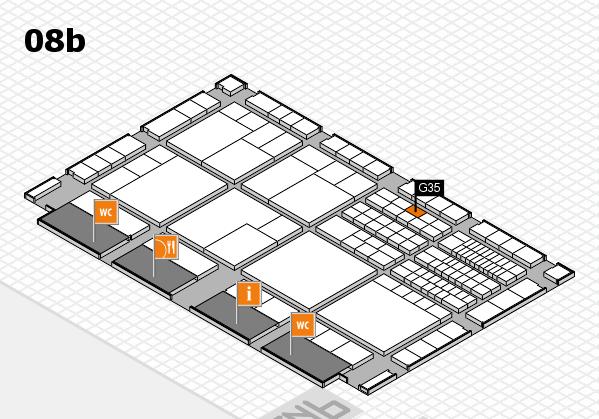 interpack 2017 Hallenplan (Halle 8b): Stand G35