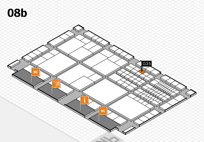 interpack 2017 hall map (Hall 8b): stand G35