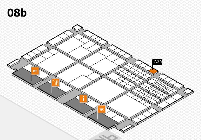 interpack 2017 Hallenplan (Halle 8b): Stand G30