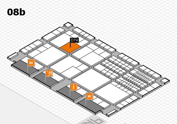 interpack 2017 Hallenplan (Halle 8b): Stand D74