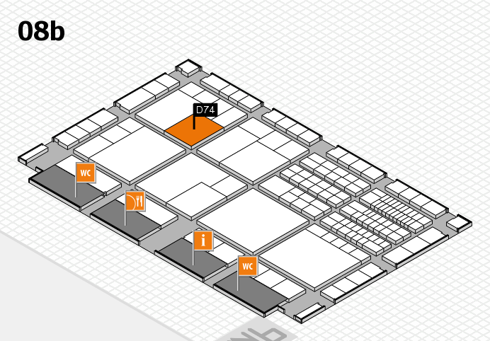 interpack 2017 hall map (Hall 8b): stand D74