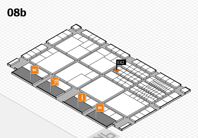 interpack 2017 hall map (Hall 8b): stand E42