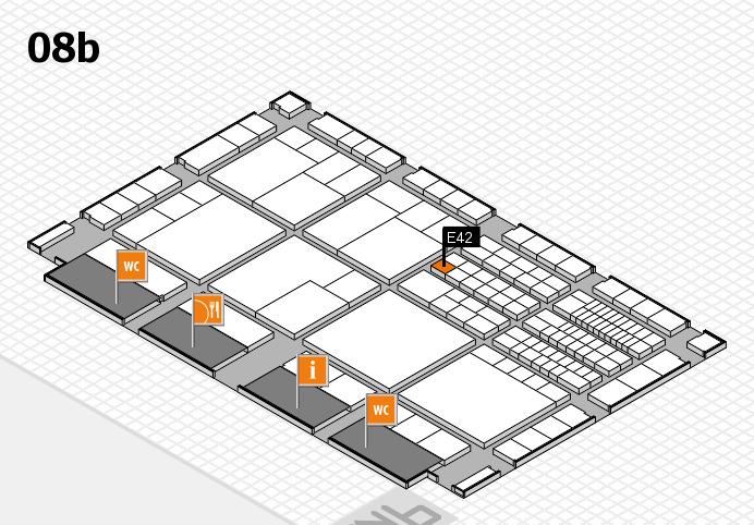 interpack 2017 Hallenplan (Halle 8b): Stand E42