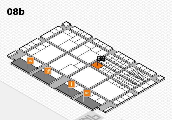 interpack 2017 Hallenplan (Halle 8b): Stand D42