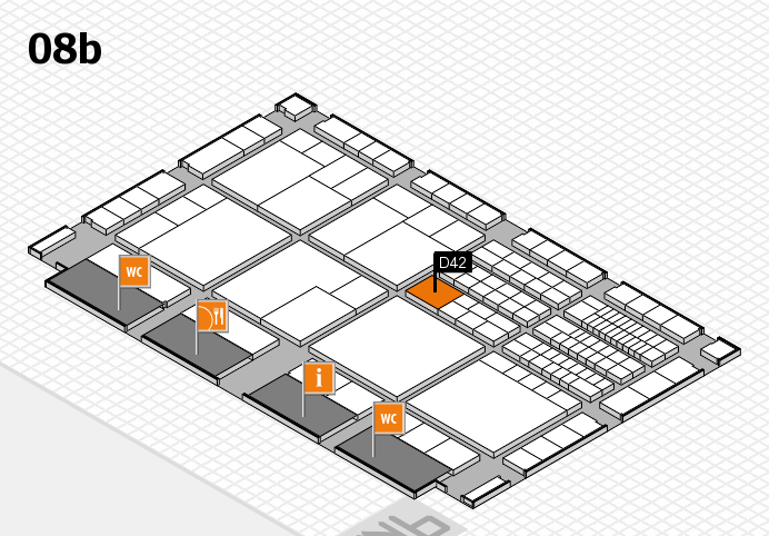 interpack 2017 hall map (Hall 8b): stand D42