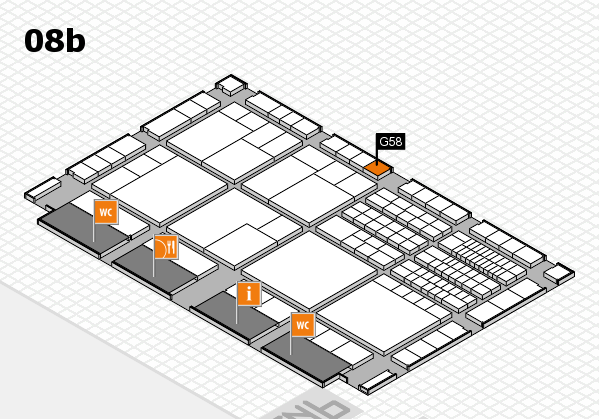 interpack 2017 hall map (Hall 8b): stand G58