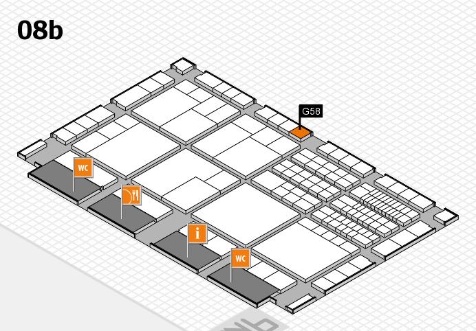 interpack 2017 Hallenplan (Halle 8b): Stand G58