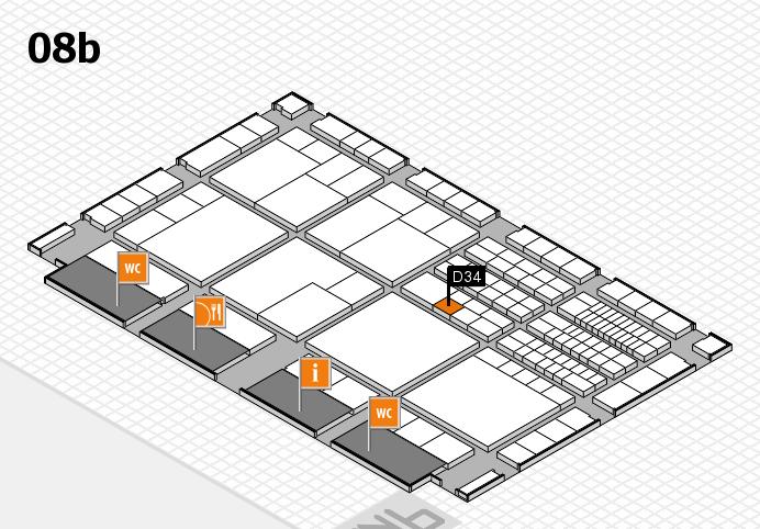 interpack 2017 Hallenplan (Halle 8b): Stand D34