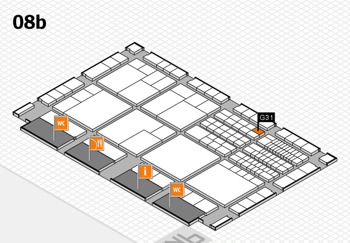 interpack 2017 hall map (Hall 8b): stand G31