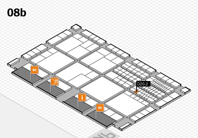 interpack 2017 Hallenplan (Halle 8b): Stand D20-2