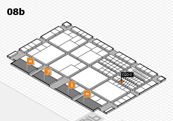 interpack 2017 Hallenplan (Halle 8b): Stand D20-3