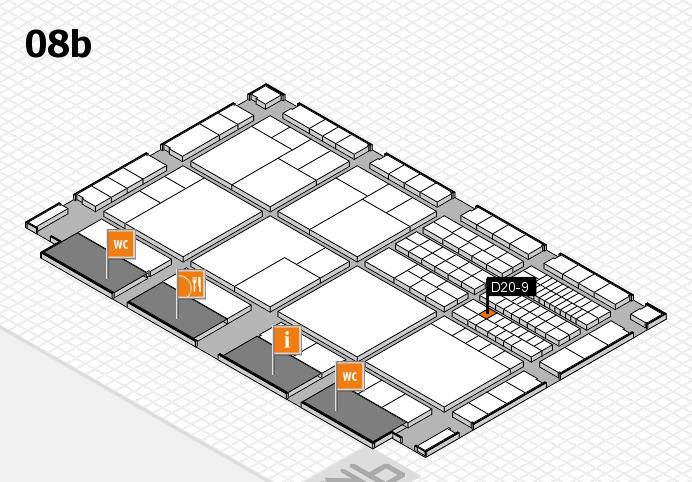 interpack 2017 Hallenplan (Halle 8b): Stand D20-9